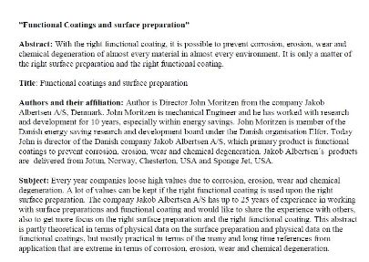 Functional Coating